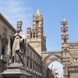 Detail of Palermo cathedral - Stock Photo
