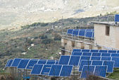 View of solar panels in the Madonie mountains — Stock Photo