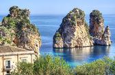 Faraglioni at Scopello, Sicily — Stock Photo