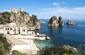 Faraglioni and Tonnara at Scopello, Sicily — Stock Photo
