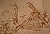 Graffiti i fängelsehålor inkvisitionen i palermo — Stockfoto