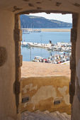 View of the harbor at Castellammare del Golfo — Stock Photo