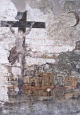 Graffiti in the dungeons of the Inquisition in Palermo — Stock Photo