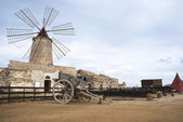 Old windmill in sicily, trapani — Stock Photo