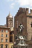 Fountain of Neptune in Bologna — Stock Photo