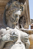 Detail of Neptune Fountain in Bologna — Stock Photo