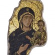 Stock Photo: Fragment in mosaic of Madonnwith child
