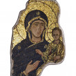 Foto de Stock  : Fragment in mosaic of Madonnwith child