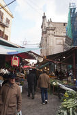 Ballaro market in palermo — Stock Photo