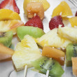 Fruit skewers — Stock Photo