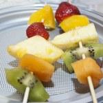 Fruit skewers — Stock Photo #25149843