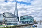 London cityscape with the Shard — Stock Photo