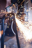 Sparks while grinding — Stock Photo