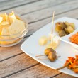 Italian appetizer. happy hour — Foto de Stock