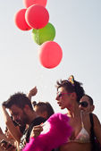 People at Gay Pride 2013 in Palermo — Stock Photo