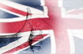 Hand OK sign with UK flag — Stock Photo