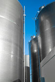 Industrial silos.detail — Stock Photo