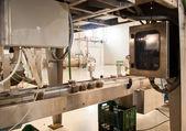 Production of olives. packing machine — Stock Photo