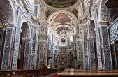 Interior of church La chiesa del Gesu or Casa Professa in Palerm — Stock Photo