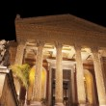 Theatre Massimo by night.Palermo — Stock Photo