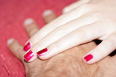 Hands of boyfriends in love — Stockfoto