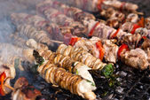 Stigghiole. Street food in Palermo — Stock Photo
