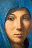 Detail of painting -Annunciata by Antonello da Messina — Stock Photo