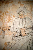 Inquisition.graffiti bir zindan — Stok fotoğraf