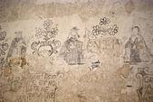 Sotterranei della inquisition.graffiti — Foto Stock