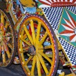 Old sicilian cart — Stock Photo