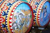 Sicilian wooden barrel — Stock Photo