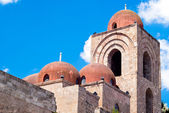 St. John of the Hermits domes, Palermo — Stock Photo