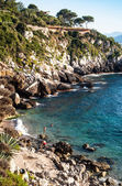 Francesi beach, mongerbino, sicilien — Stockfoto