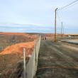 Fence at Super Pit gold mine Australia — 图库照片