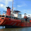 Stock Photo: Abandoned red ship
