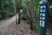 Signs on walking track — Stock Photo