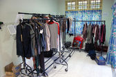 Costume room at movie set — Stock Photo