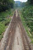 Línea de ferrocarril de kuala lumpur — Foto de Stock