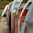 Boats on the pier — Stock fotografie