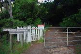 Anglican cemetery entrance gate — Stock Photo