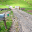 Stock Photo: Mailbox on farm
