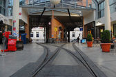 Tram line in Christchurch city center — Stock Photo