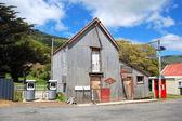 Garagem de metal antiga — Foto Stock