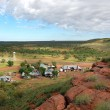 Service station in outback Australihill view — Stock Photo #19347587