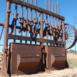 Gold mining industrial monument — Stock Photo
