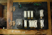 Old electric switch box — Stock Photo