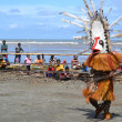 Traditional dance mask festival Papua New Guinea - Stock Photo