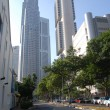 High buildings city center Singapore — Stock Photo