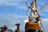 Traditional dance mask festival Papua New Guinea — Stock Photo