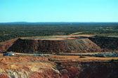 Gold mine open pit — Foto Stock
